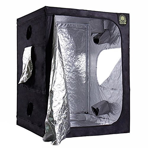 Helios 60'' x 60'' x 80'' Grow Tent – Indoor Mylar Hydroponic Plant Growing Room by Helios Hydro