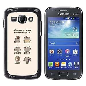 Samsung Galaxy Ace 3 III / GT-S7270 / GT-S7275 / GT-S7272 , Radio-Star - Cáscara Funda Case Caso De Plástico (Funny - Cat Comic Humor)