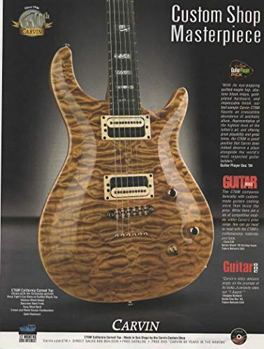 Magazine Print ad: 2006 Carvin Guitar, CT6M California Carved Top