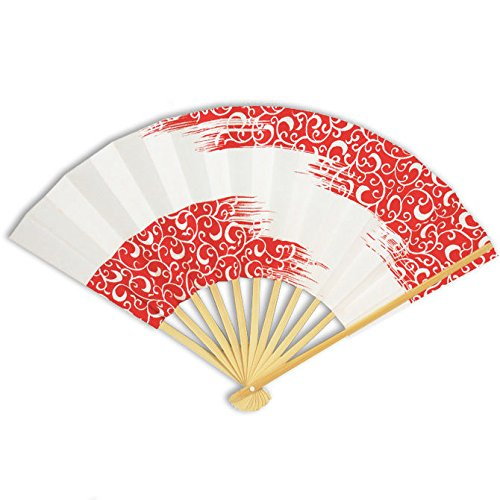 Japanese Geisha Odori Dancing Hand Held Sensu Stiff Folding Fan, Made in Japan by Yokohama Gifts