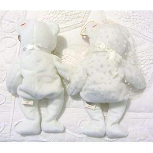 ade67bc33f2 lovely Ty Beanie Baby Mr and Mrs Bear Bride and Groom Wedding Teddy Set of 2