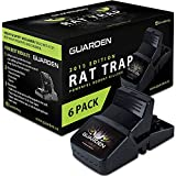 Rat Traps that Work (6 Pack) - Easy to Bait and Set, Reusable Best Rat Traps that Work Indoors and Out, Large Mouse Traps for Rats, Chipmunks, Vole Traps, Rodent Traps for Attic, Snap Traps Rats Trap