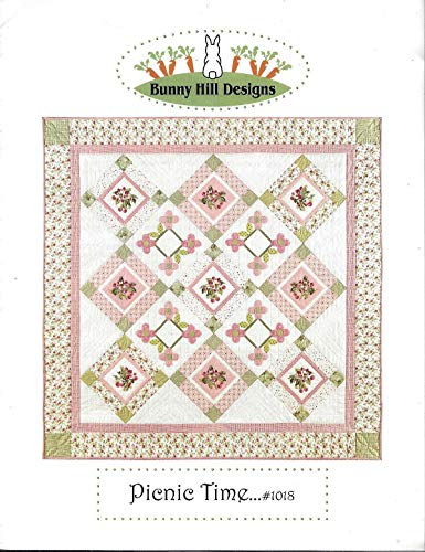 Picnic Time - Quilt and Applique Pattern 1018 from Bunny Hill Designs Finished Size 53 1/2