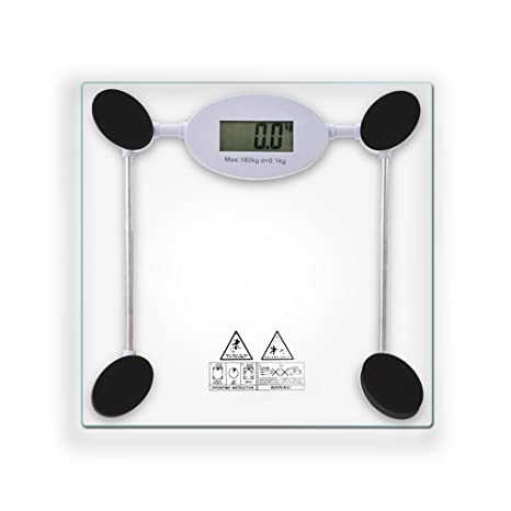 Tanburo Báscula Digital para Baño, Alta Medición Precisa 180 kg, 28 ST/400