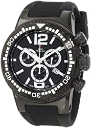 Swiss Precimax Men's SP12035 Titan Elite Black Dial with Black Silicone Band Watch