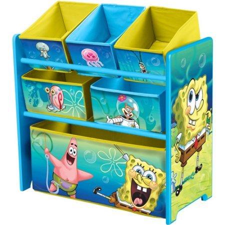 Nickelodeon SpongeBob SquarePants Multi-Bin Toy Organizer