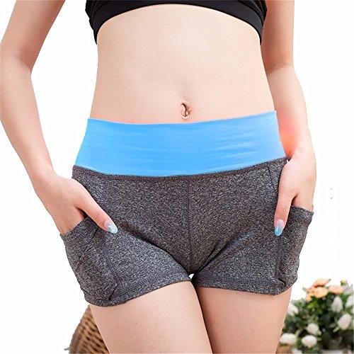 XXSZKAA Shorts De Yoga Pour Femme / Séchage Rapide Sport Shorts De Course Respirant / Patinage Vélo Shorts De Fitness / Maigre