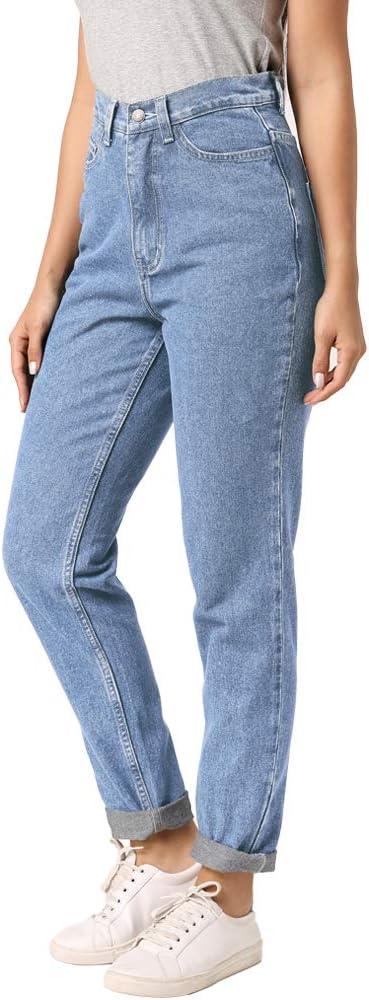 بنطلون جينز كلاسيكي عالي الخصر من ruisin كلاسيكي مثير للصديق جينز للنساء