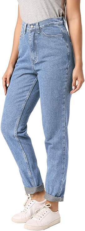 ruisin Classic High Waist Denim Jeans Vintage Boyfriend Jeans