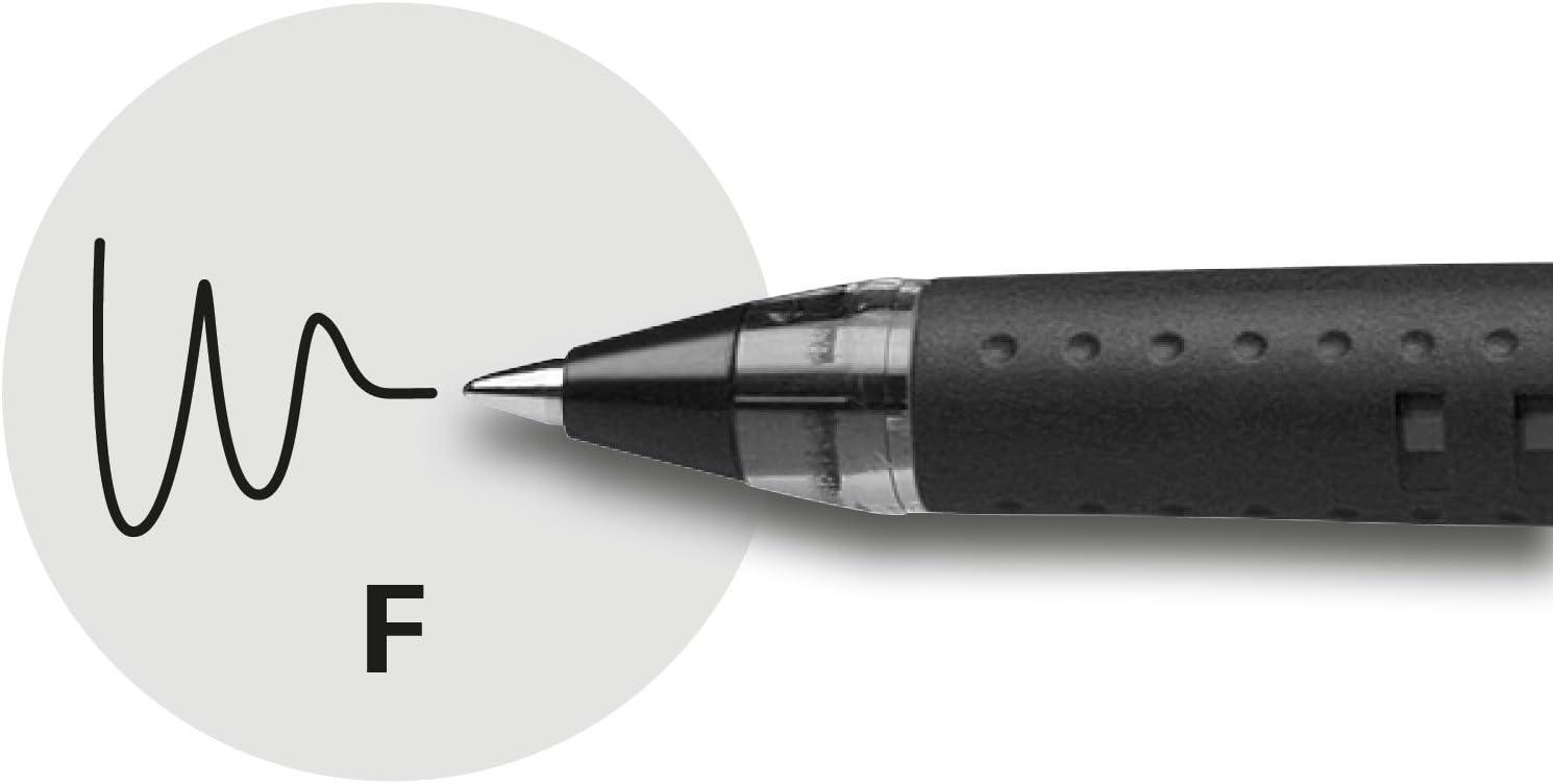 Schneider Slider Basic Kugelschreiber Kappenmodell mit Soft-Grip-Zone und der Strichst/ärke F=Feinstrich 10er Packung rot