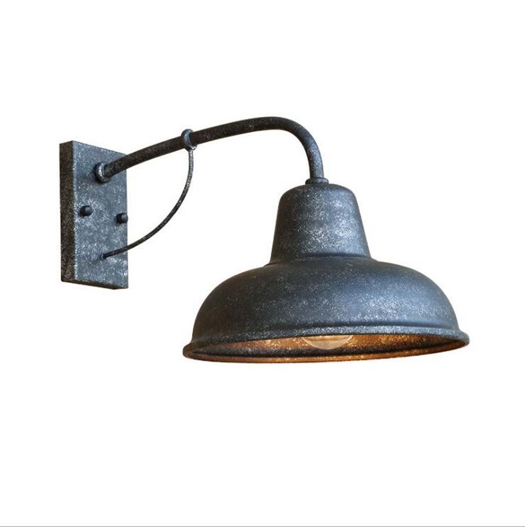 レトロウォールランプ、屋外鍛造アイロン防水壁ライト、アメリカンシンプルな外壁ドアパティオバルコニーガーデンビッグヘッドカバーウォールランプE27光源なし (色 : A) B07DLLQVXX 12446  A