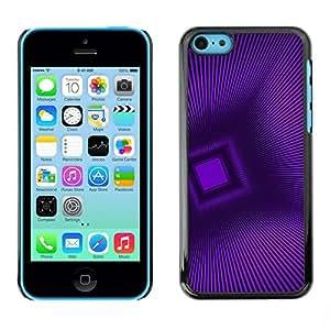Be Good Phone Accessory // Dura Cáscara cubierta Protectora Caso Carcasa Funda de Protección para Apple Iphone 5C // Polygon Stripes Pattern 3D