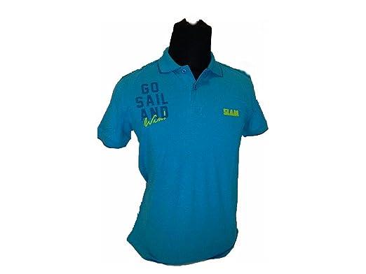 Slam Polo - Para Hombre Azul Claro Medium: Amazon.es: Ropa y ...