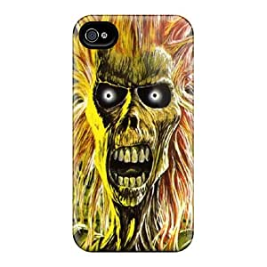 Protector Hard Cell-phone Case For Iphone 4/4s With Unique Design Trendy Iron Maiden Pattern JonBradica