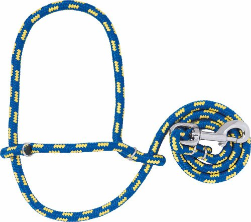 Weaver Leather Poly Rope Sheep Halter with Snap, Blue/Yellow