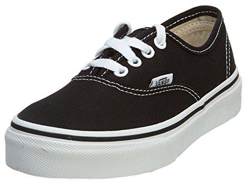 (Vans VN-0WWX6BT: Authentic Kid(PS&GS) Skate Black/True White Sneaker (3 M US Little)