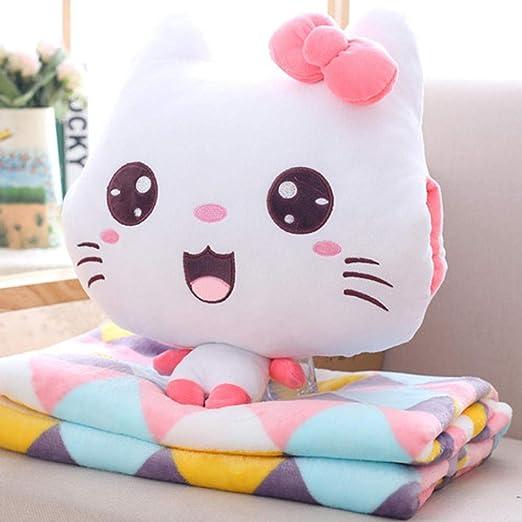 LALLing Kawaii Emoji Cat Peluche de Juguete y Manta Animal ...