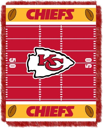 Northwest NFL Kansas City Chiefs Field Woven Jacquard Baby 36 x 46