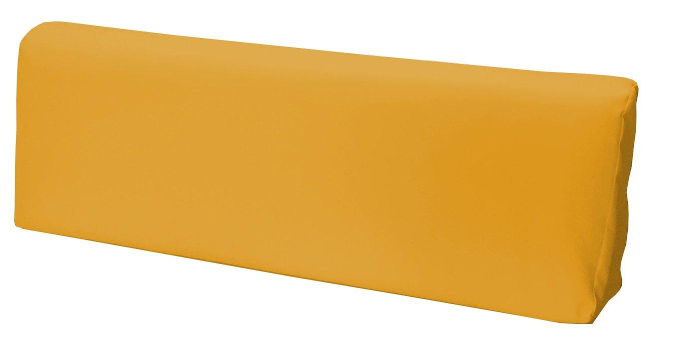 Schienale 120x39x11-19 cm Ecopelle IDROREPELLENTE GIALLO ARANCIATO SET CUSCINI PER DIVANI PALLET BANCALI Seduta 120x80x15 cm