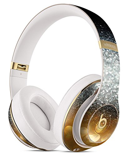 Unfocused Silver Sparkle with Gold Orbs DesignSkinz Full-Body Skin Kit for the Beats by Dre Studio Remastered Wireless Headphones / Ultra-Thin / Matte Finished / Protective Skin Wrap