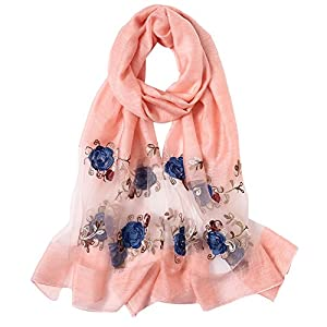 MaaMgic Womens Floral Sliky Scarf For Hair Ladies Scarf 182305016