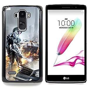 """Qstar Arte & diseño plástico duro Fundas Cover Cubre Hard Case Cover para LG G4 Stylus H540 (Ciber Guerrero"""")"""