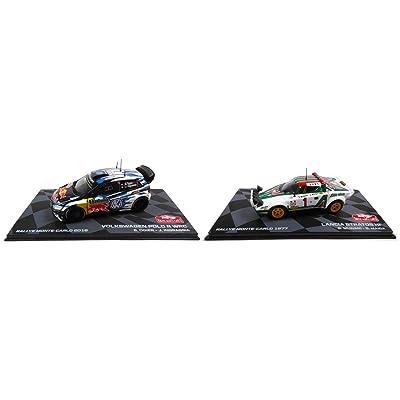 - Set of 2 Cars 1/43 Winner Monte Carlo WRC: R Ogier Polo + Lancia Stratos (Ref: BR1-BR3): Juguetes y juegos