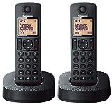 Panasonic KX-TGC312EB Digital Cordless Phone with Nuisance Call Blocker - Black, Pack of 2