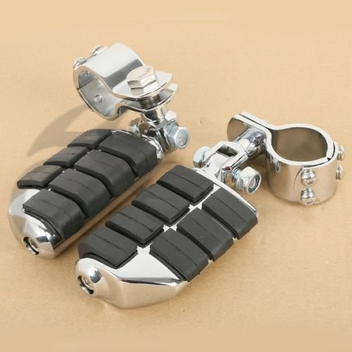 Tengchang Chrome Dually Highway Foot Pegs FootPegs For Honda GoldWing GL1500 GL1100 GL1200