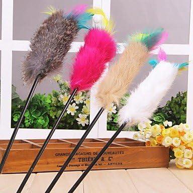Tinte multicolor palo en forma de plumas con palo de plástico ...