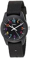 Timex Girls TW7C10400 Time Machines Black Nylon Strap Watch