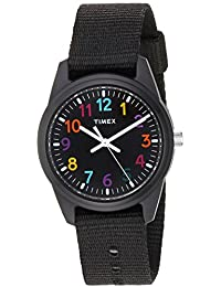 Kids TW7C10400 Black Resin Watch with Black Nylon Strap