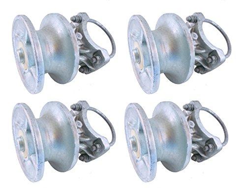 Gate Hardware Set - Cantilevered Gate Rollers, Cantilevered Rollers, Rolling Cantilever, Slide Gate Roller Hardware, For 4