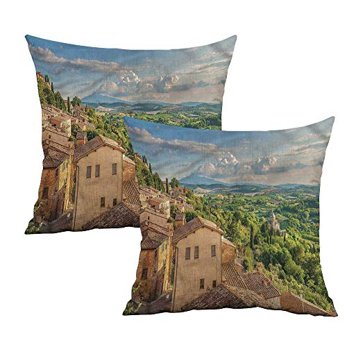 uare Pillowcase Covers Cypresses Forest Hills Sky Square Custom Pillowcase Cushion Cases Pillowcases for Sofa Bedroom Car W 24