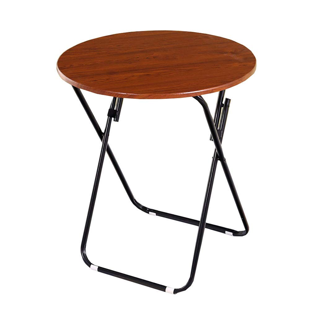TJTG Folding Table Dining Table Eating Table Household Small Apartment Round Table Generous Table Simple Simple Portable Square Multi-Size Home Office Desk (Size : 70CM)