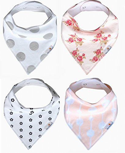 baby-bandana-drool-bibs-for-girl-petal-4-pack-of-absorbent-cotton-bibs-modern-baby-gift-set-by-nava-