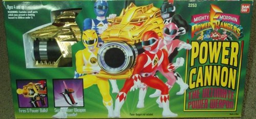 Power Cannon Mighty Morphin Power Rangers Weapon (Mighty Morphin Power Rangers Zords)
