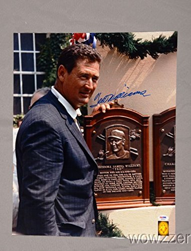 Signed 16x20 Hall Of Fame - Ted Williams SIGNED 16x20 Hall of Fame Induction Green Diamond Hologram+PSA/DNA