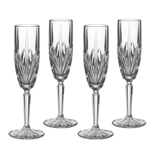 4 Champagne Glasses (Marquis by Waterford Brookside 6-Ounce Champagne Flutes, Set of 4)