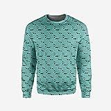 iPrint Men's Crewneck Fractal Pullover Sweater