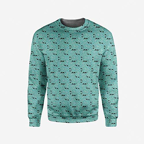 iPrint Men's Crewneck Fractal Pullover Sweater by iPrint