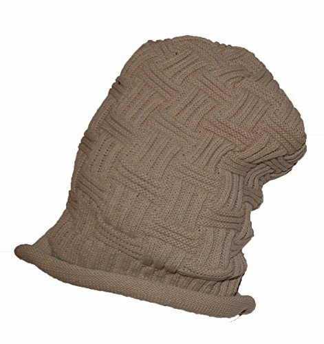 único gris gorro Entramado textura largo tamaño Nice Biege con OXxq0wf4
