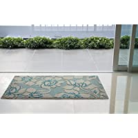 Jean Pierre All Loop Kimmy 28 x 48 in. Decorative Textured Accent Rug, Grey/Blue Lagoon
