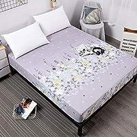 BBQBQ Housse pour Matelas Respirante, Housse de Protection pour Matelas avec,Couvre lit Anti-poussière imprimé imperméable