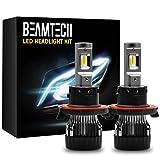 9008 bulb - BEAMTECH H13 LED Headlight Bulbs,6500K 10000 Lumens Extremely Super Bright 9008 Hi/Lo 30mm Heatsink Base CSP Chips Conversion Kit,Xenon White