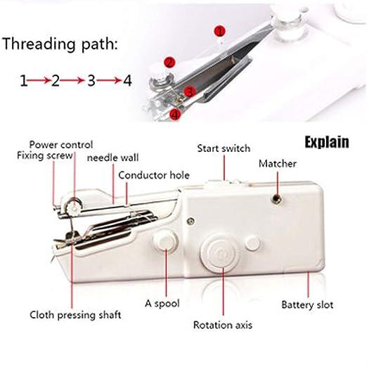 Máquina de coser a mano Mini multifunción portátil de mano ...