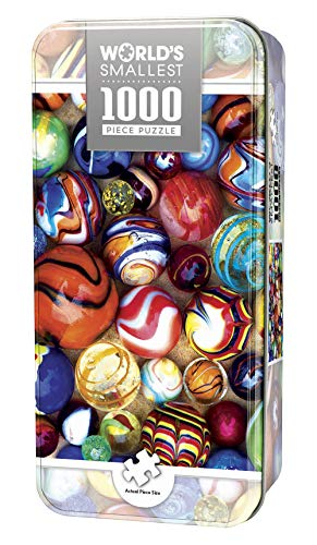 (MasterPieces World's Smallest Jigsaw Puzzle Tin, All My Marbles, Collectable Box, 1000 Mini Pieces )