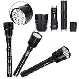 Handheld Flashlights,Lookatool XLightFire 30000 Lumens 12x CREE XML T6 5 Mode LED 3X 18650 Battery
