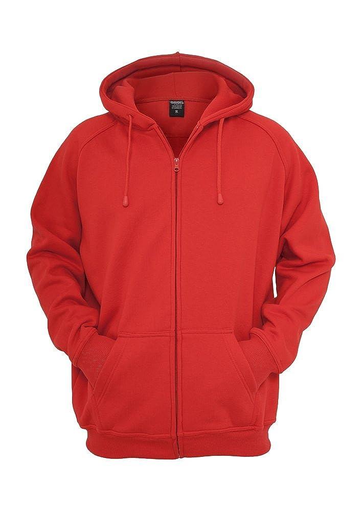 TB014c 'Urban Classics' Zip Hoody (Various Colours), Größe:XL;Farbe:red