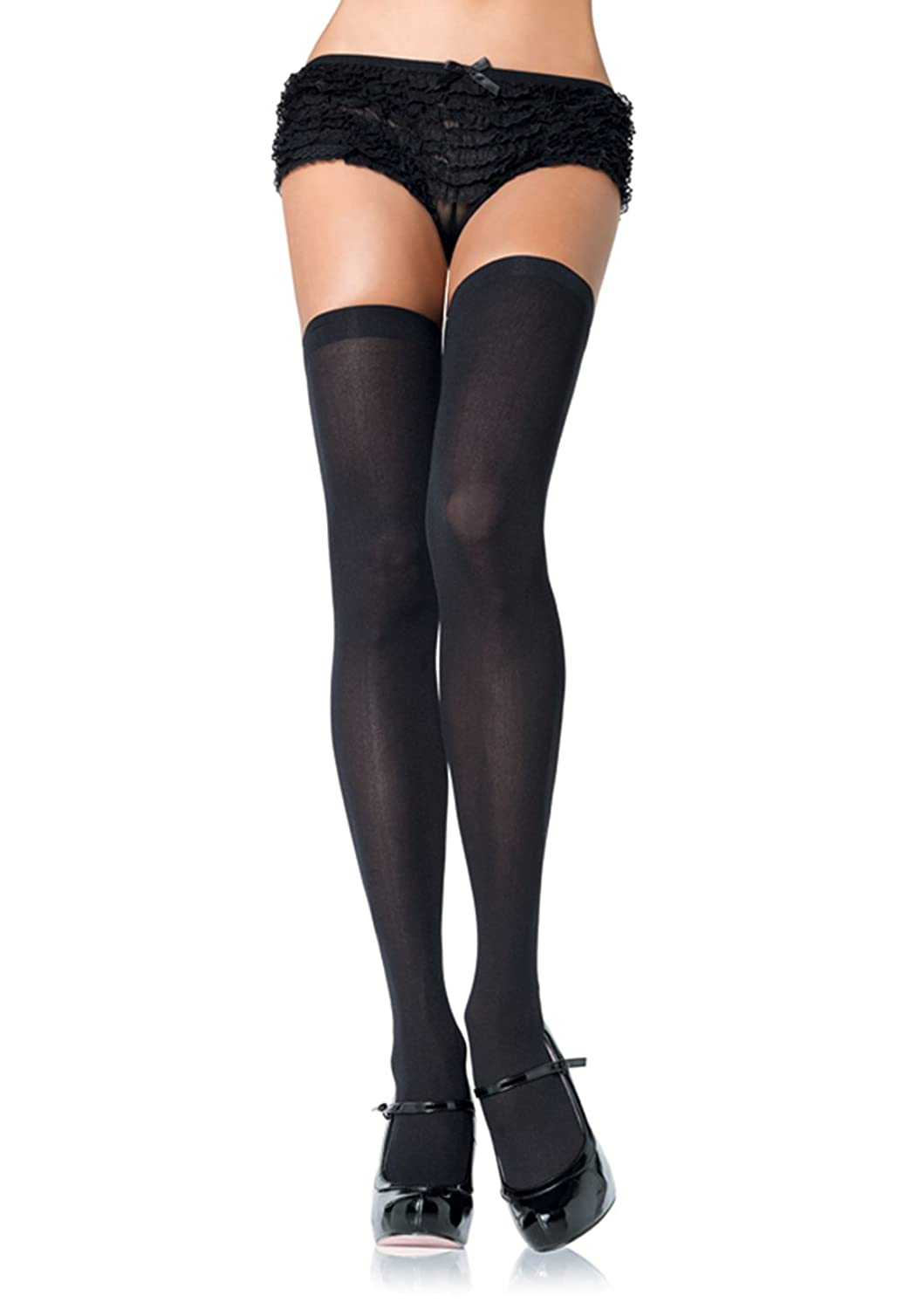 Fashion look from june 2014 featuring thigh high hosiery purple - Leg Avenue Women S Opaque Nylon Thigh High Stockings At Amazon Women S Clothing Store Thigh Highs Hosiery